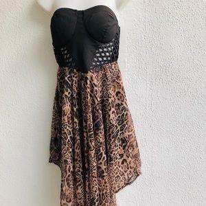 Love culture strapless tortoise dress Size M